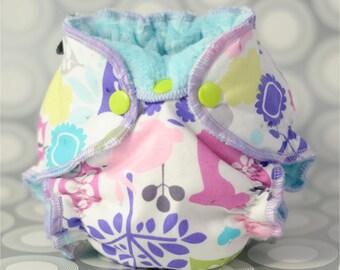 Cloth Diaper PDF Sewing Pattern - Newborn Hybrid Fitted Cloth Diaper