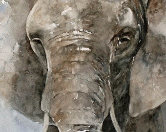 for her watercolor animal painting for nursery elephant painting Baby room decor Elephant Print Elephant nursery art boy room decor boy
