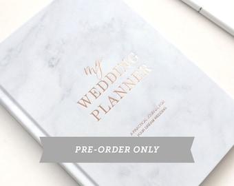 Pre-Order:  ROSE GOLD FOIL Marble wedding planner - engagement gift - wedding planner - gift for brides - wedding organizer