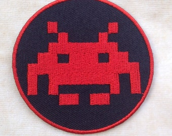 Space Invaders Arcade Video Game Iron On Patch