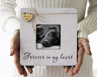 Pet Memory Picture Frame, Pet Picture Frame, Forever In My Heart Frame, Loss Of A Pet, Pet Loss Gift Idea
