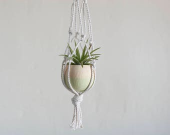 Hanging Air Plant Planter, Air Plant Terrarium, Macrame Air Plant Holder, Air Plant Hanger, Mom Gift, Dorm Decor, Air Planter, Sister Gift