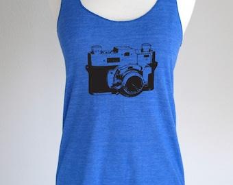 Camera 02 design Ladies Tank Top Soft Tri-Blend Racerback Tank