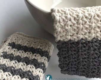 Crochet Farmhouse Dishcloth Pattern | Country Washcloth Pattern | Crochet Pattern download
