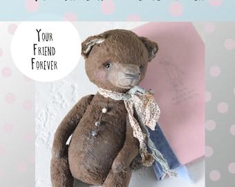 Sewing PATTERN PDF  of teddy bear Friend Forever, how to make teddy bear, teddy bear, diy teddy bear