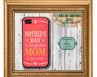 Mom iPhone Case, Mother's Day iPhone Case, Best Mom iPhone, iPhone X, iPhone 8, 8 Plus, iPhone 7, 7 Plus, iPhone 6, 6s, 6 Plus, SE, 5s, 5c