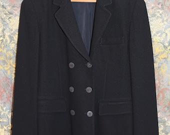 Vintage Isabel Ardee Sz 10 Black Double Breasted Blazer