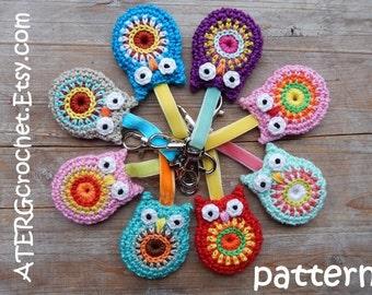 Crochet pattern OWL key ring by ATERGcrochet