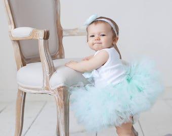 Mint Birthday Tutu Dress | Cake Smash Skirt