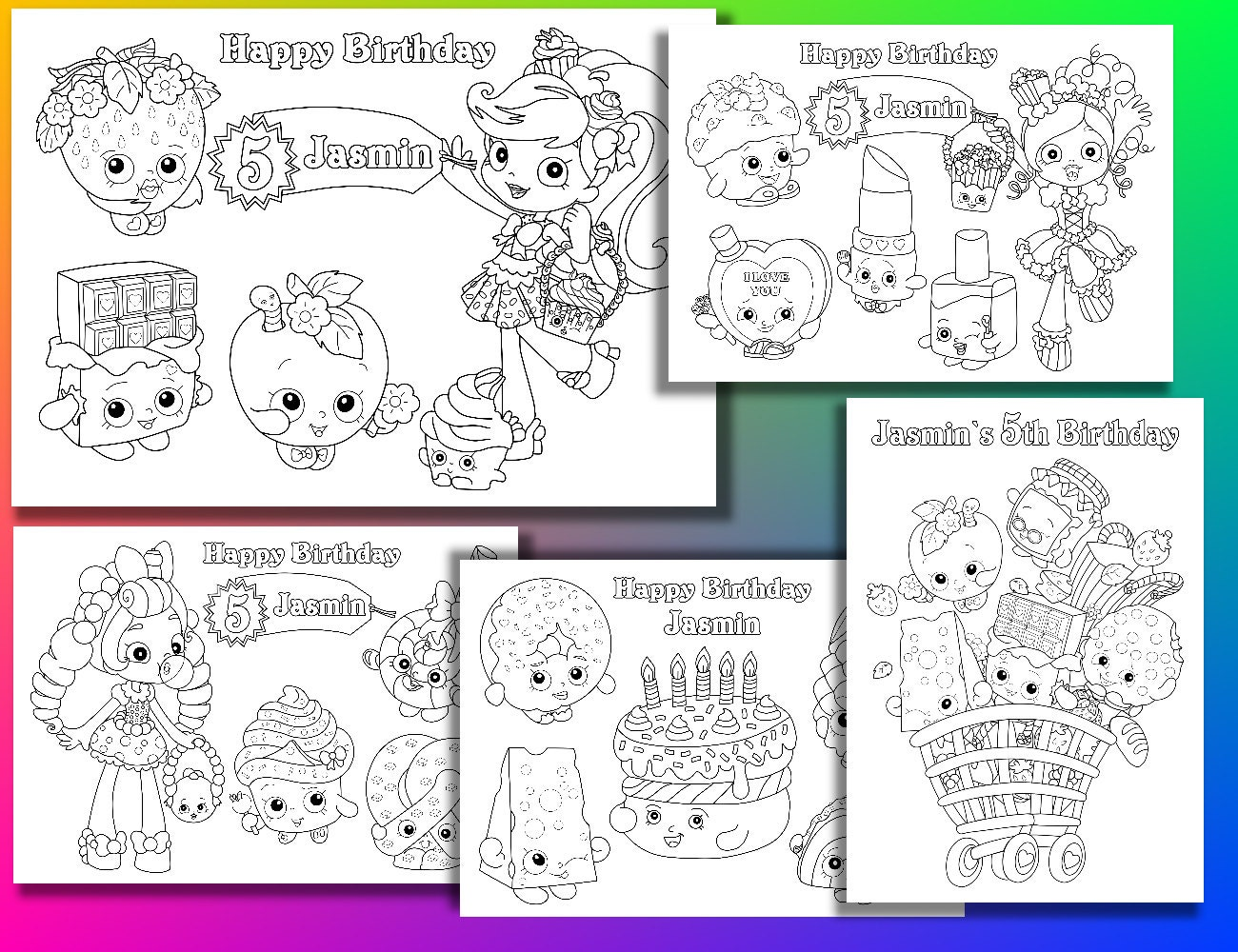 Coloring Pages Zip File.  zoom Shopkins coloring pages Birthday Party PDF