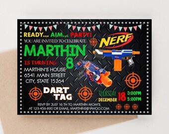 Dart, Dart Gun War, Dart Invitation, Dart Birthday,  Dart Invitation, Dart Party, Dart Printable Invitation