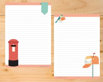 A5 and A4 Snail Mail printable Letter Paper