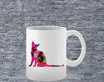 Cool Mug - Art Mug - Coffee Mug - Colorful Cat Mug - Tea Mug