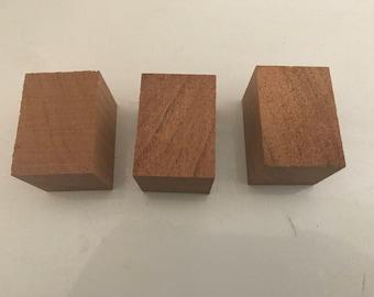 Mesquite wood bottle stopper blanks