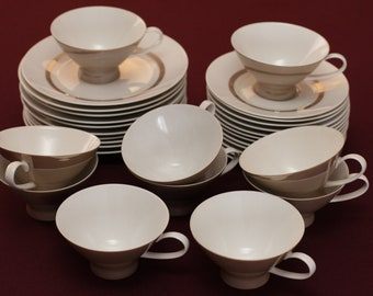 Rosenthal Taupe Band Dessert set for 10