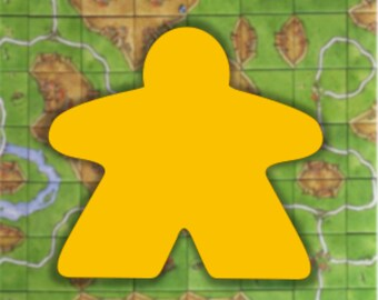 Totally epic boardgame meeple vinyl decal/  Carcassonne inspired laptop or surface Decal / Board Game Accessory / idea gift for gamer geeks