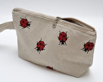 Wristlet pouch - LADYBIRDS