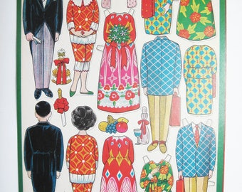 Vintage Japanese Paper Doll Sheet