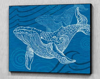 Whale One Color Wall Panel