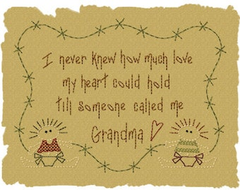 MACHINE EMBROIDERY-Someone Called Me Grandma--5x7-Colorwork/Motif-Instant Download
