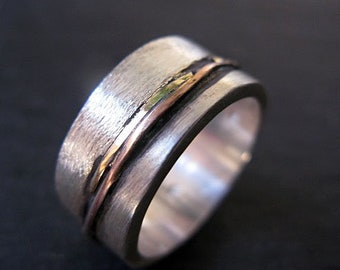 Mens Wedding Band Mens Size 9 3/4 Wedding Ring Oxidized Ring Black Gold Ring Rustic Ring Unique Weddi Viking Wedding Ring Mens Wedding Bands