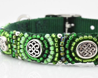 Celtic Dog Collars, St Patricks Day Dog Collars, Irish Dog Collars, Green Irish Pet Collars, Celtic Pet Collars, St Patricks Day Collar
