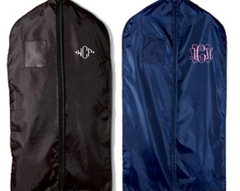Garment Bag  -  Monogram Hanging Bag - Monogrammed Gift - Suit Bag - Father's Day Gift - Travel Gift - Graduation Gift for him