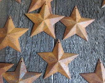 """Set of 100 Rusty Barn Stars 2.25"""" Dimensional Primitive Country Rustic Craft Stars 2 1/4 inches in Diameter Flag Project Crafts Americana"""