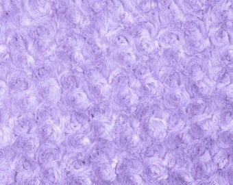 Lavender Rosebud Cuddle Minky Fabric, Sold by The Yard