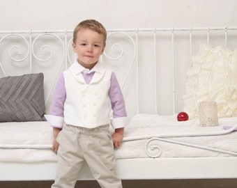 Boys suit Boys clothes Ring bearer outfit Boys vest and shorts