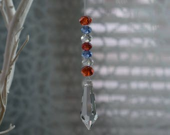Faceted Crystal Sun Catcher for home, windows, cars, office, anywhere!