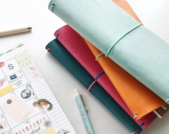 NEW COLORS Traveler's Notebook Cover // Fauxdori // Field Notes Cover // Moleskine Cover - Made to Order - Customization