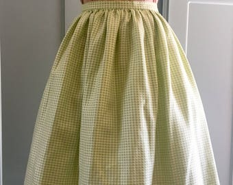 1950s Reproduction hand finished gathered circle skirt