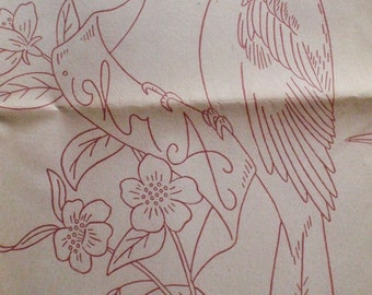 Vintage Aunt Martha's Hot Iron Transfers - State Birds, State Flowers