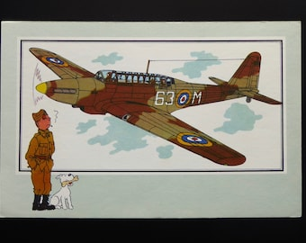 "Tintin. Chromo Tintin. See and know. Aviation. War 1939-1945. Series 1. NO. 7. Fairey ""Battle"". 1936 Britain."