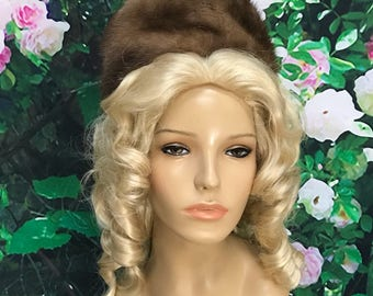 50s Natural Brown Mink Designed by Lora Hat