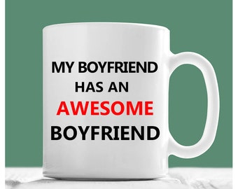 Gay Coffee Mug, My Boyfriend Has An Awesome Boyfriend, Gay Boyfriend Gifts, Gay Couples Gifts, Gay Men Gifts, Valentine Gifts For Gay Men