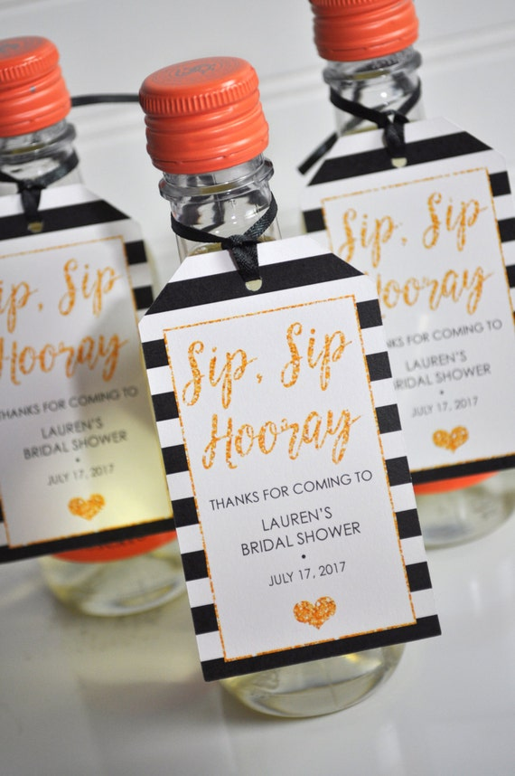 Wine Bottle Favor Tags Bridal Shower Wedding Favors Mini