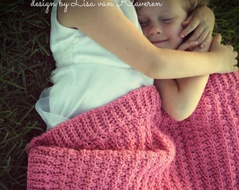 Download Now - CROCHET PATTERN Love You More Throw - Make to Any Size - Pattern PDF
