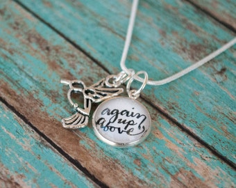 Miscarriage Memorial Necklace, Again Up Above Sympathy Gift for Infant Loss, St Zelie Quote Pregnancy Loss Jewelry