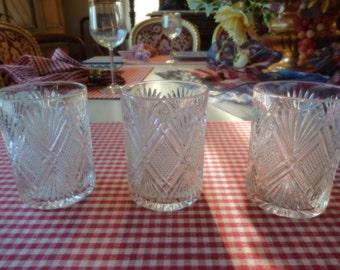 THREE OLD FASHIONED Glasses