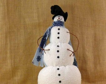 Winter Willy Large Fabric Snowman