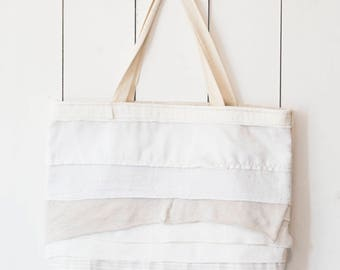 Upcycled One-Of-A-Kind Scrappy Tote Bag 1