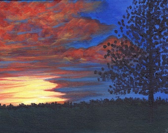 Colorful Sky - Acrylic Landscape Painting