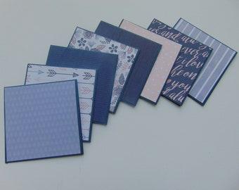 Mini Note Cards >> set of 8//Mini Note Cards//Note Card set//Mini Christmas Cards/Mini Blank Cards//Blank Cards