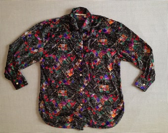 Midnight Marauders crushed velvet, button up, collar shirt
