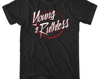 Young and Ruthless Logo T-shirt - Men and Unisex - Tee - XS S M L XL 2x 3x 4x - 4 Colors