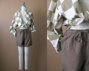 high waist mocha shorts / m