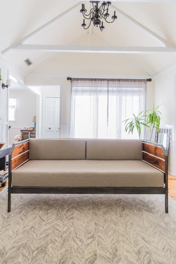 Superb Modern Redwood Sofa Or Daybed Steel Frame Custom