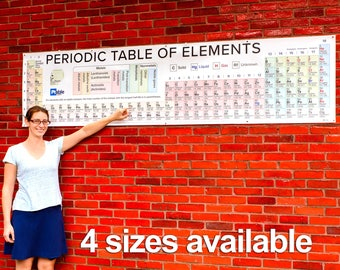 2018 Wide Vinyl Periodic Table Poster (4 sizes)